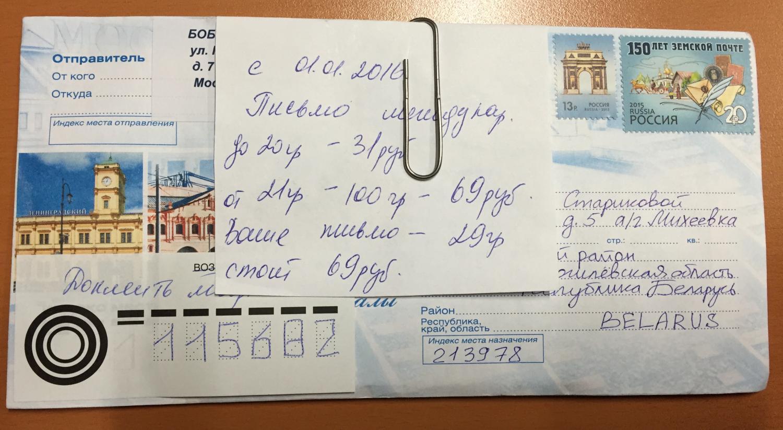 Открытка по почте россии сколько стоит заявление