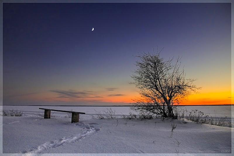 безоблачное небо зимой  № 2469697 загрузить