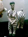 женщина-зебра